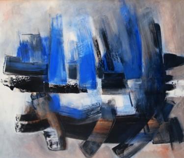 Composition noire et bleue